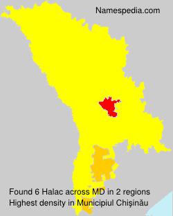 Surname Halac in Moldova