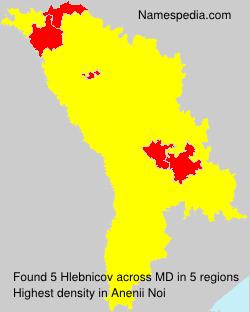 Surname Hlebnicov in Moldova