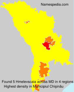 Familiennamen Hmelevscaia - Moldova