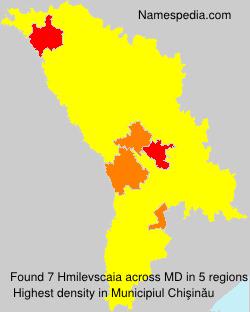 Familiennamen Hmilevscaia - Moldova