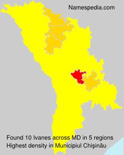 Surname Ivanes in Moldova