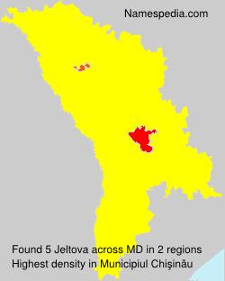 Familiennamen Jeltova - Moldova