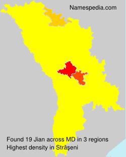 Familiennamen Jian - Moldova