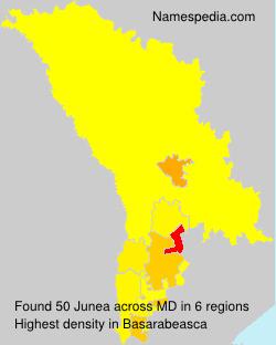 Surname Junea in Moldova