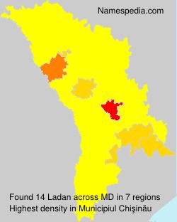 Familiennamen Ladan - Moldova