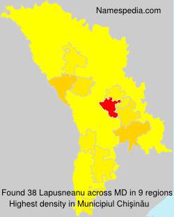 Surname Lapusneanu in Moldova