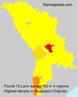 Familiennamen Larin - Moldova