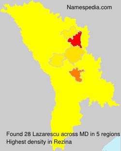 Familiennamen Lazarescu - Moldova