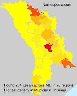 Surname Lesan in Moldova