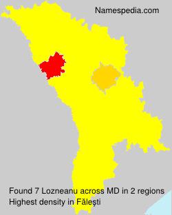 Surname Lozneanu in Moldova