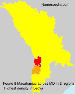 Surname Macahaniuc in Moldova