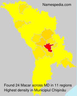 Surname Macar in Moldova