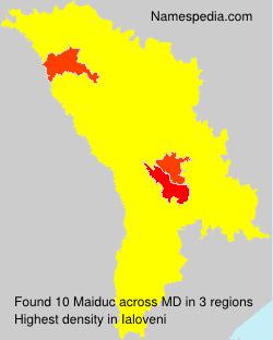 Surname Maiduc in Moldova