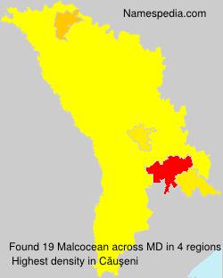 Surname Malcocean in Moldova