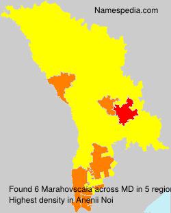 Familiennamen Marahovscaia - Moldova