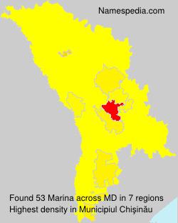 Surname Marina in Moldova