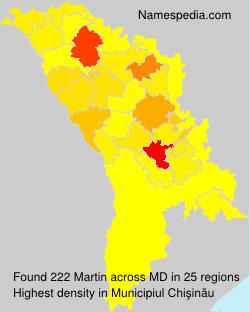 Surname Martin in Moldova
