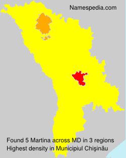 Familiennamen Martina - Moldova