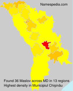 Surname Maslov in Moldova