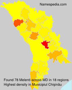 Surname Melenti in Moldova