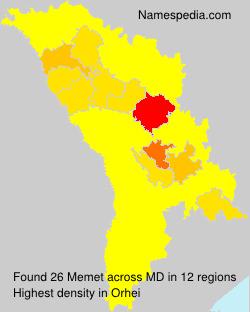 Surname Memet in Moldova