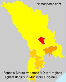 Familiennamen Merculov - Moldova