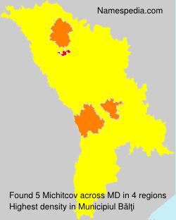 Surname Michitcov in Moldova