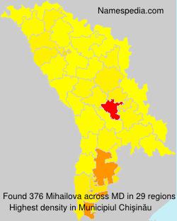 Surname Mihailova in Moldova