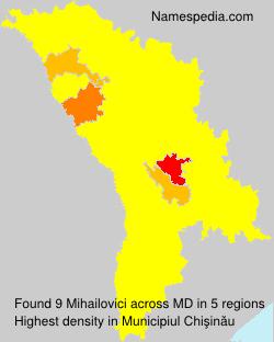 Familiennamen Mihailovici - Moldova