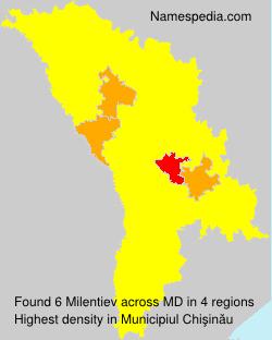 Familiennamen Milentiev - Moldova
