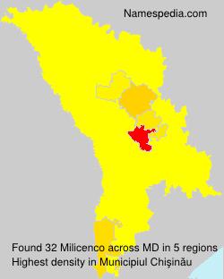 Surname Milicenco in Moldova