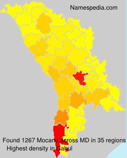 Surname Mocanu in Moldova