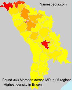 Familiennamen Morosan - Moldova