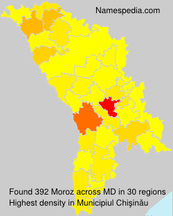Surname Moroz in Moldova