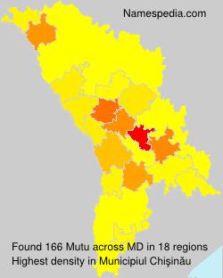 Surname Mutu in Moldova
