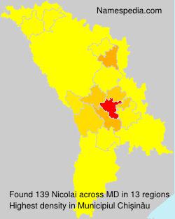 Surname Nicolai in Moldova