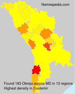 Familiennamen Obreja - Moldova