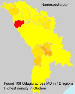 Surname Odagiu in Moldova