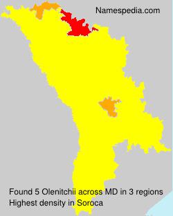 Surname Olenitchii in Moldova