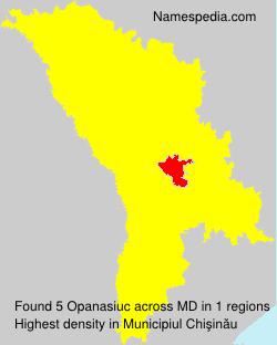 Familiennamen Opanasiuc - Moldova