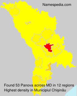Surname Panova in Moldova