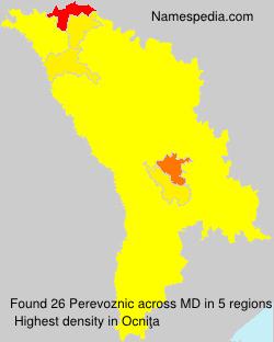 Surname Perevoznic in Moldova