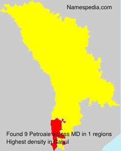 Familiennamen Petroaie - Moldova