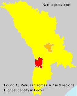 Familiennamen Petrusan - Moldova