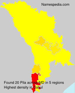 Surname Pila in Moldova