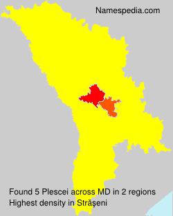 Surname Plescei in Moldova