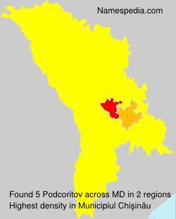 Surname Podcoritov in Moldova