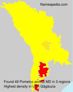Surname Pometco in Moldova