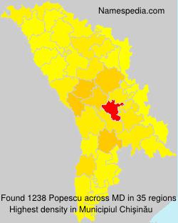 Surname Popescu in Moldova