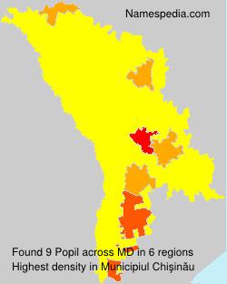 Familiennamen Popil - Moldova